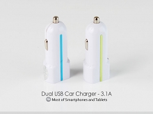Dual USB Car Charger - 3.1A