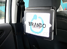 iPad 2 Leather Case with Elastic Velcro Strap Car Mount