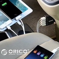 ORICO Quadruple USB Car Charger - 6.8A