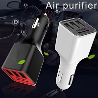 Car Air Purifier with 3 USB Car Charger