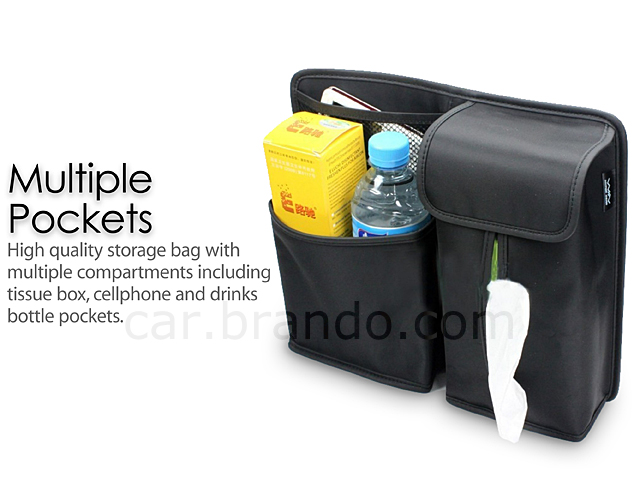 Car Back Seat Multi-Pocket Storage Bag
