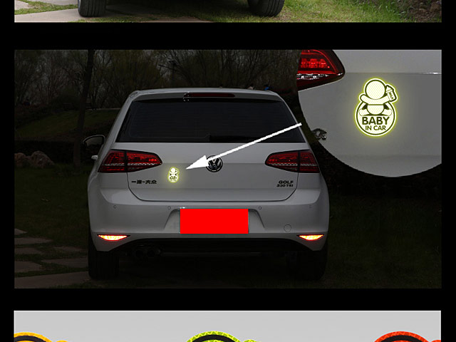 3M High Reflective Car Stickers - Baby In Car